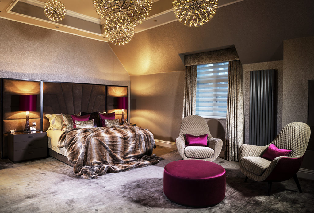 Luxury Chandeliers Lapworth Country State Master Suite – Interior Design project located in Lapworth – Warwickshire/Midlands.