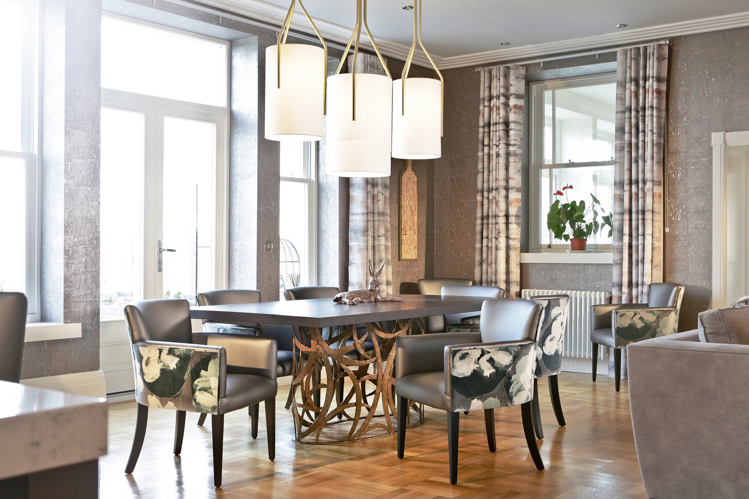 Peter Staunton Interior Design - Flint Hall Dining Area