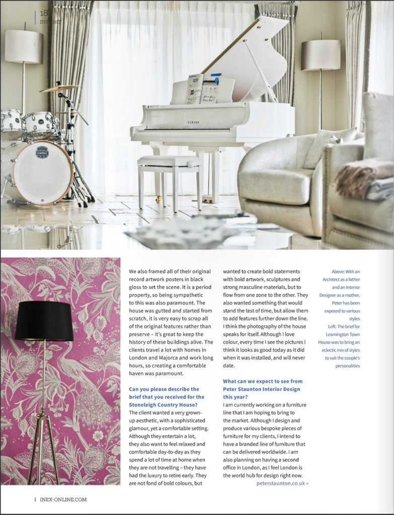 INEX Peter Staunton Interior Designer interview warwickshire leamington spa london rock n roll chic decor (3)