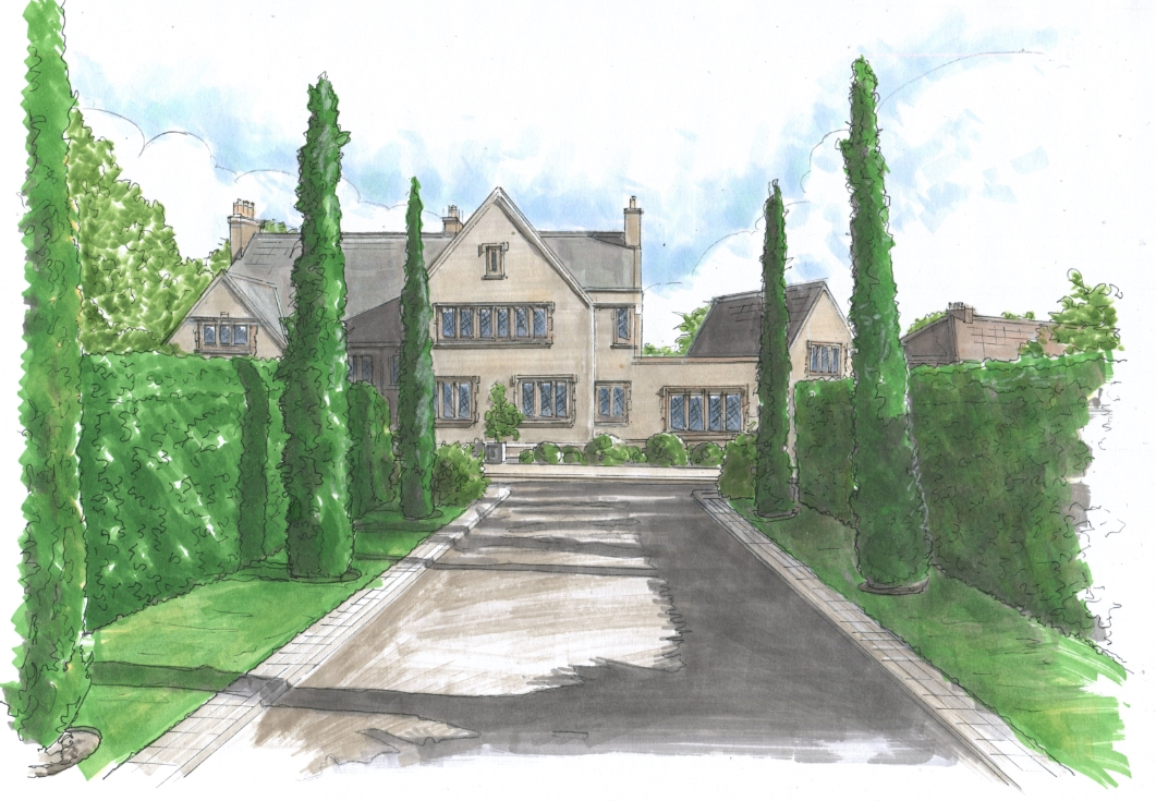 Cotswold Lodge - House Drawing